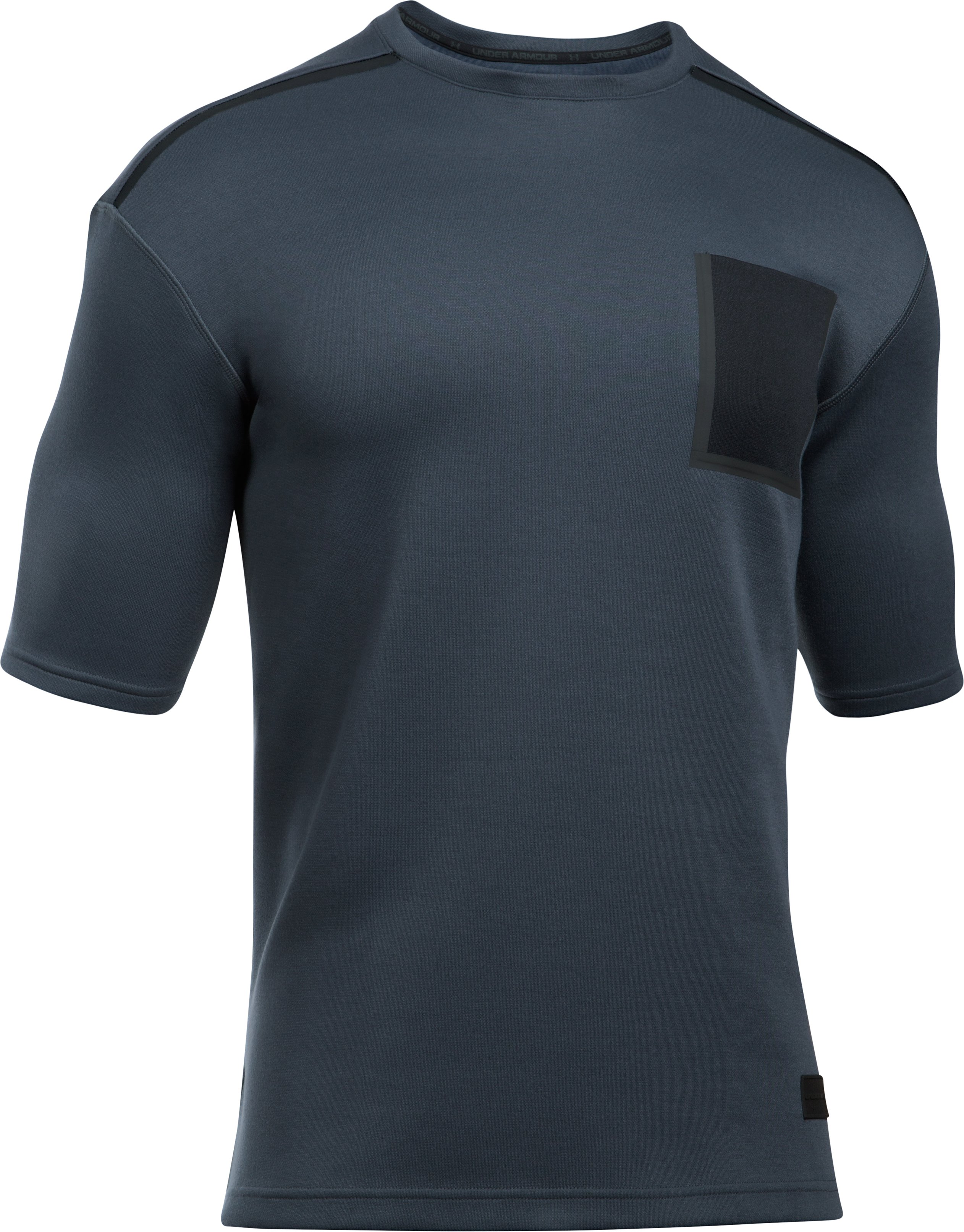 Men's UA Pursuit Open Space ½ Sleeve, STEALTH GRAY, undefined