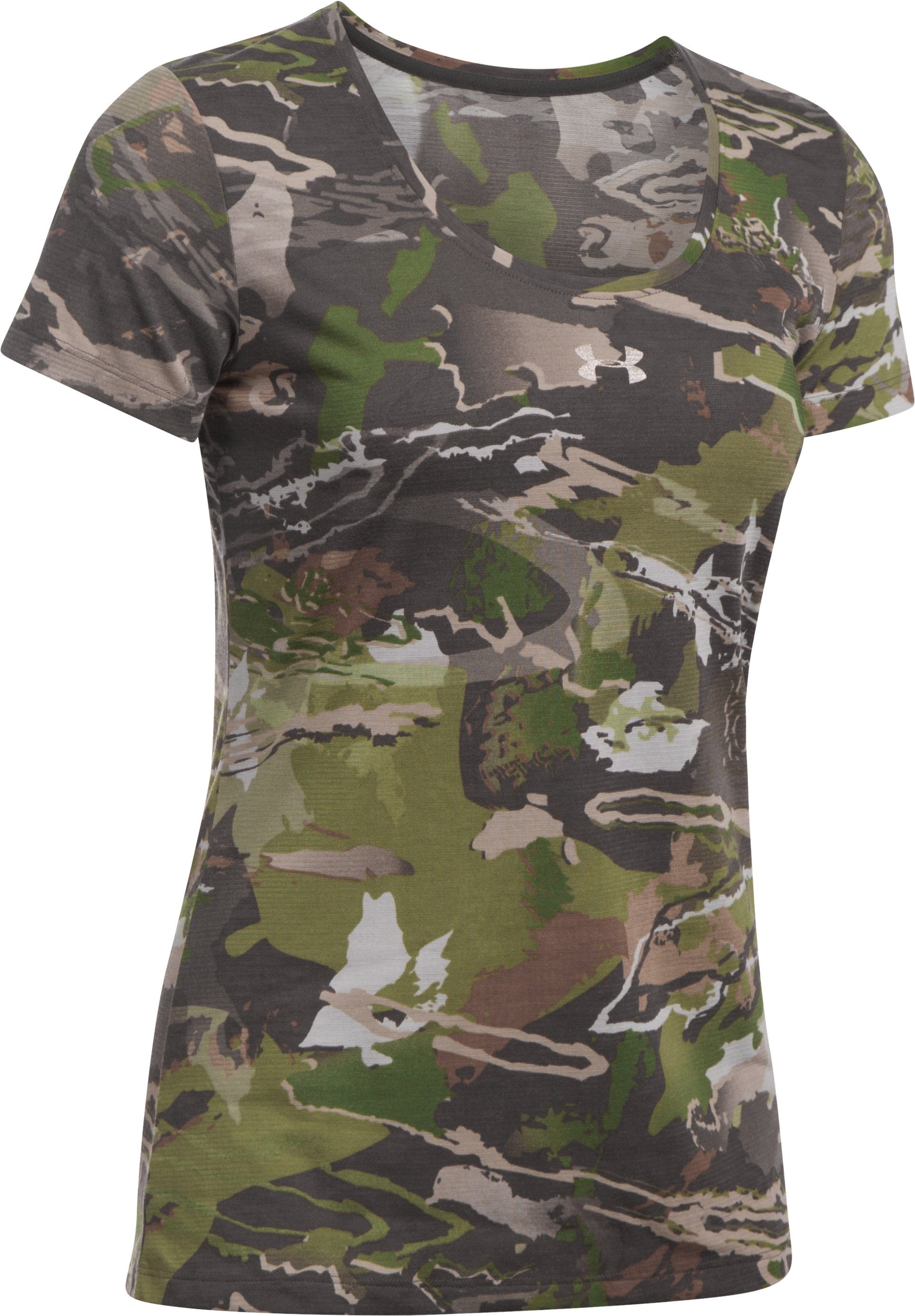 Women's UA Threadborne™ Early Season Short Sleeve, RIDGE REAPER® FOREST,