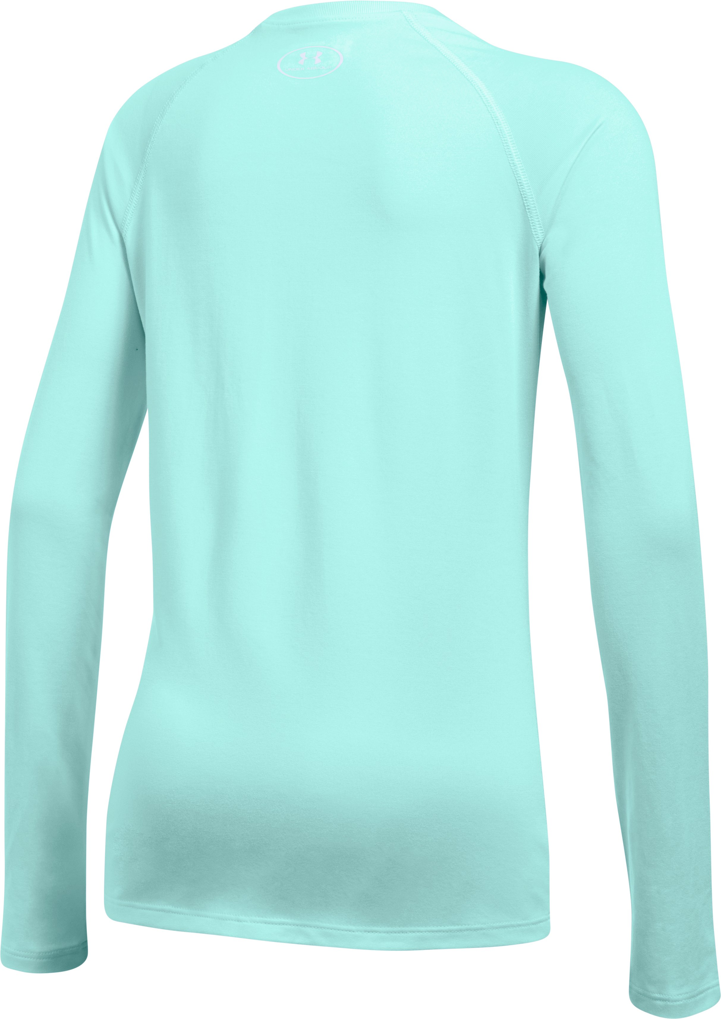 Girls' UA Big Logo Slash Long Sleeve, BLUE INFINITY, undefined