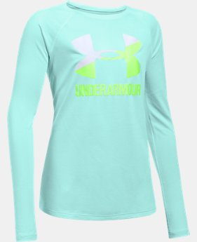 Girls' UA Big Logo Slash Long Sleeve  1 Color $29.99