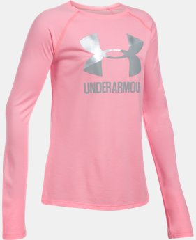 Girls' UA Big Logo Slash Long Sleeve  7  Colors Available $14.99 to $18.99