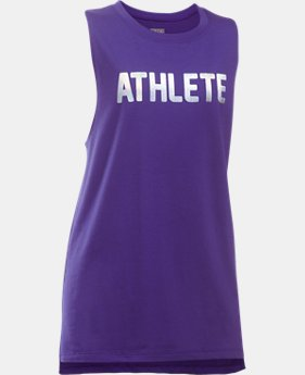 New to Outlet Girls' UA Athlete Tank  1 Color $13.99
