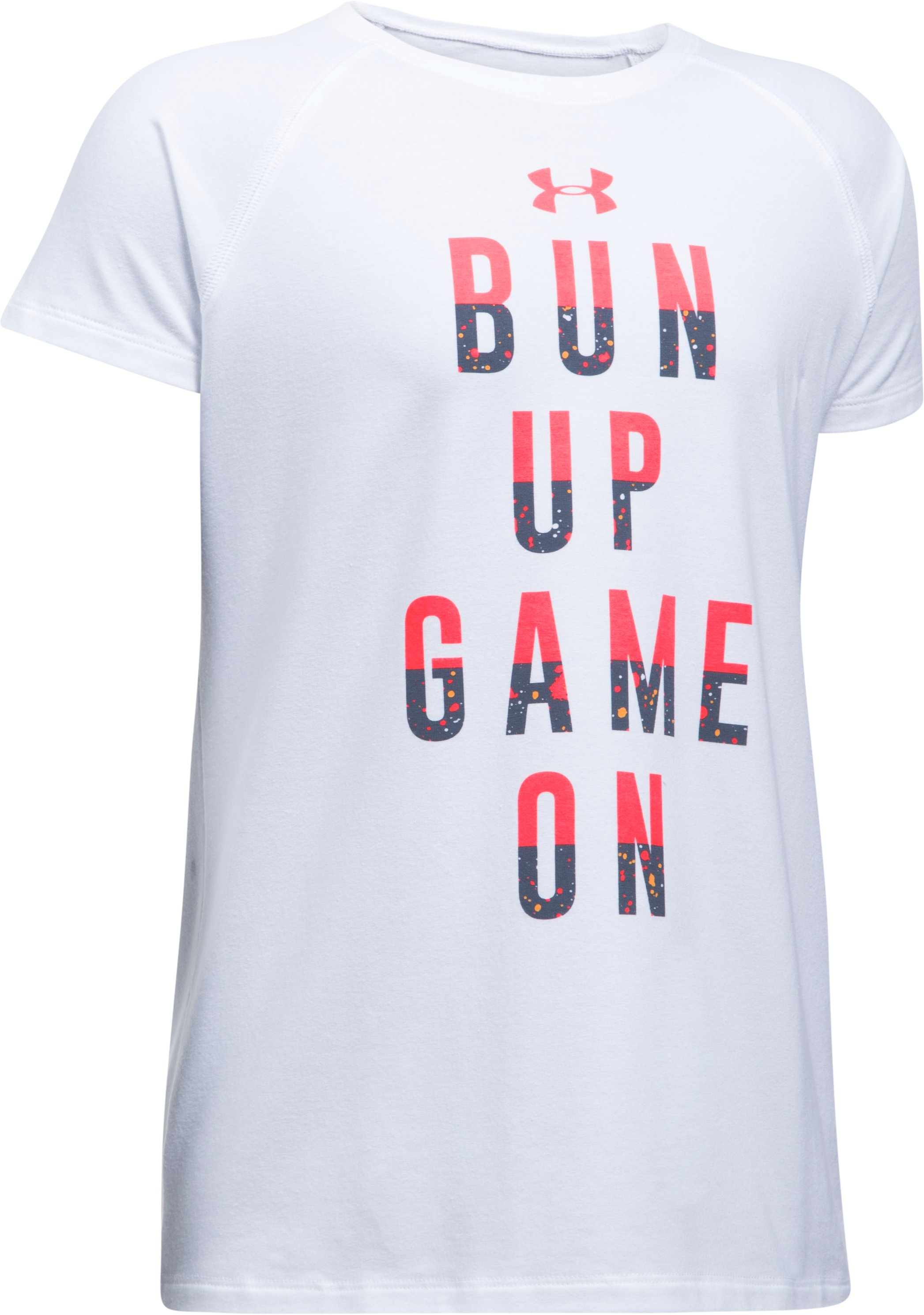 Girls' UA Bun Up Game On T-Shirt, White,