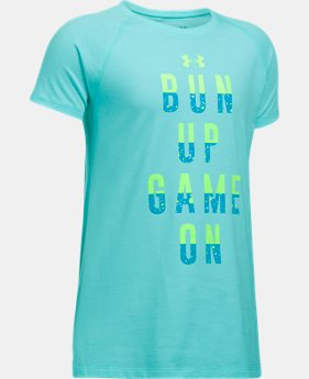 Girls' UA Bun Up Game On T-Shirt  1 Color $19.99