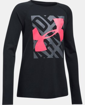 Girls' UA Blocked Logo Long Sleeve  1 Color $29.99