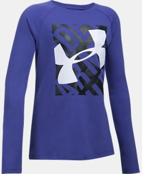 Girls' UA Blocked Logo Long Sleeve  2 Colors $24.99
