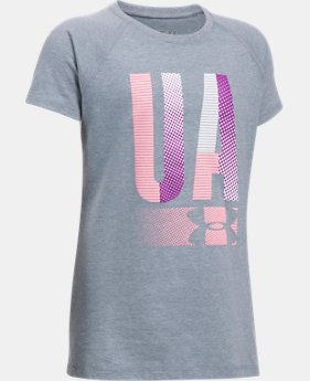 Girls' UA Multiplex Logo Short Sleeve T-Shirt  2 Colors $19.99