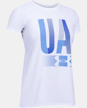 New Arrival  Girls' UA Multiplex Logo Short Sleeve T-Shirt  2 Colors $22.99