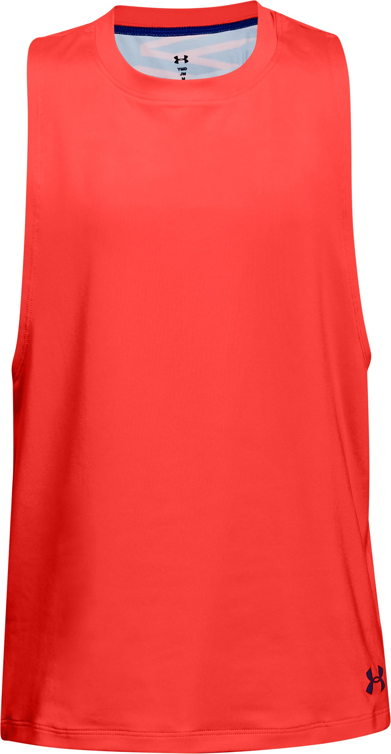 Girls' UA 2-in-1 Tank, NEON CORAL,