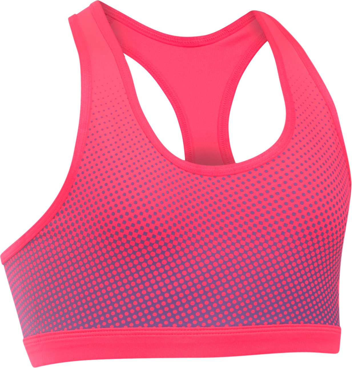 Girls' HeatGear® Armour® Reversible Bra, PENTA PINK,