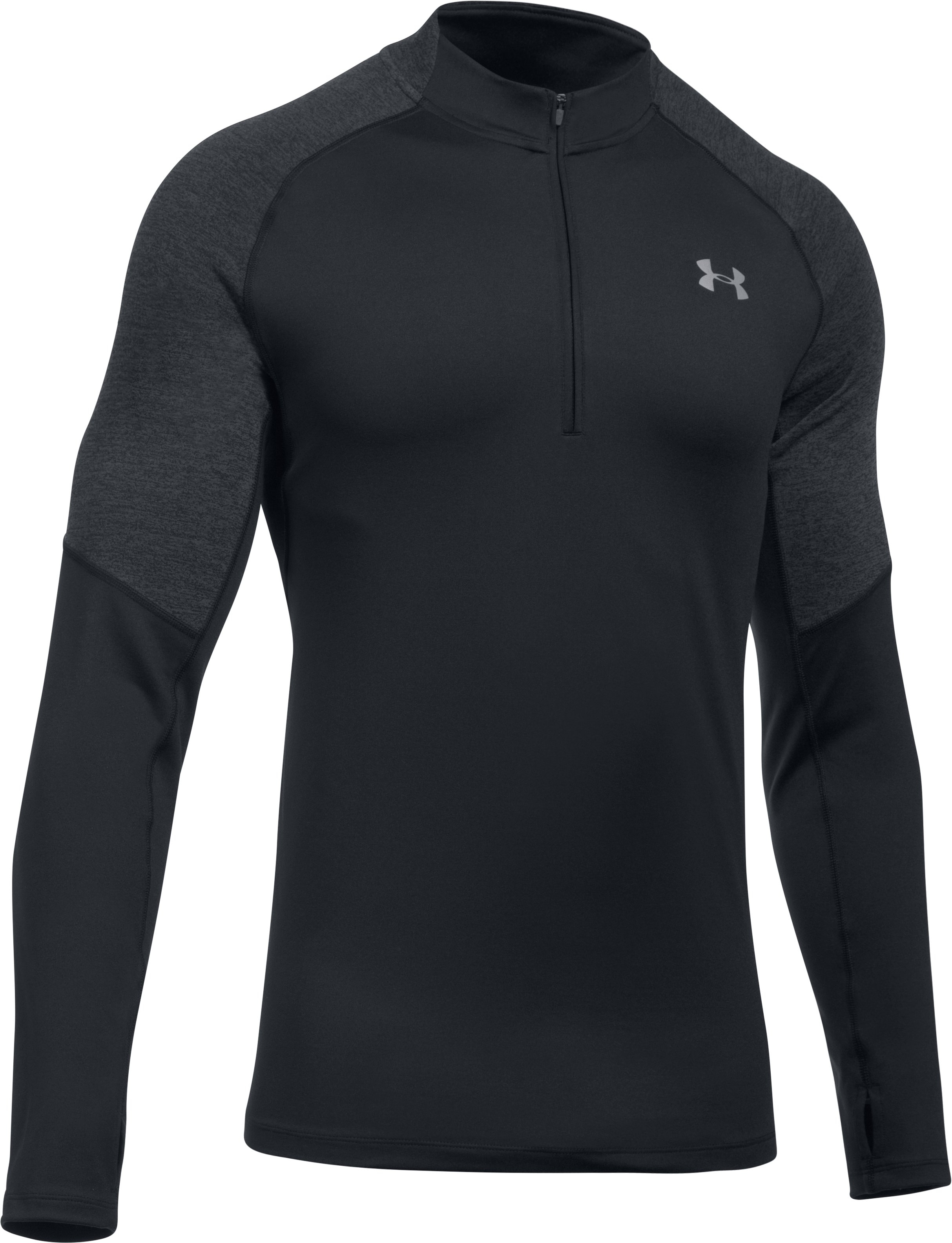 Men's UA Threadborne™ Run ¼ Zip, Black ,