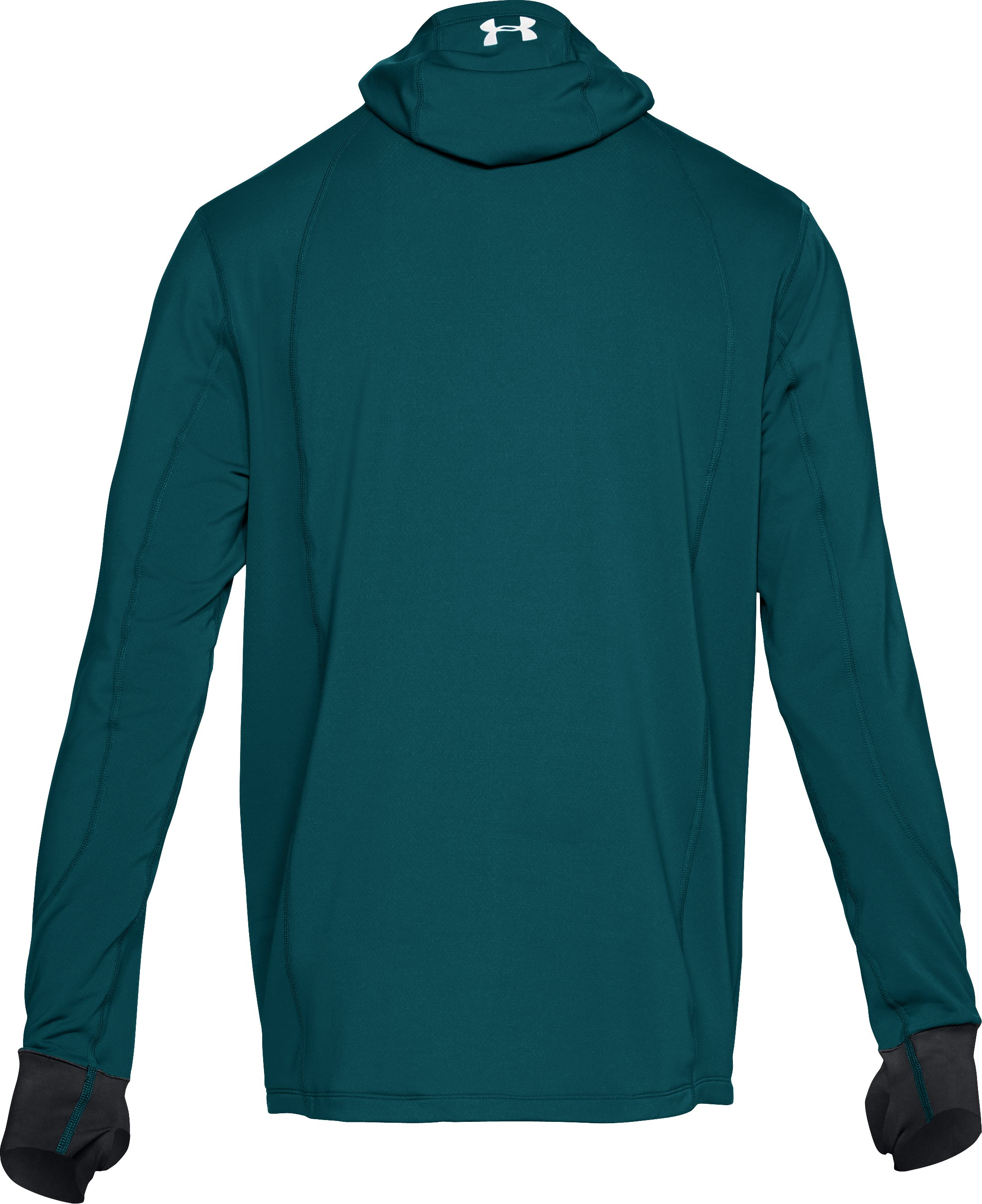 Men's ColdGear® Reactor Run Balaclava Hoodie, TOURMALINE TEAL, undefined