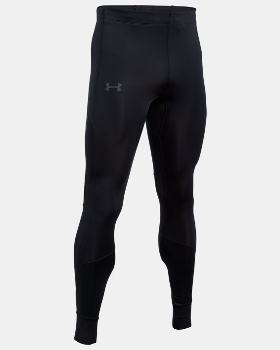 Men's ColdGear® Reactor Run Leggings, Black, pdpMainDesktop image number 4