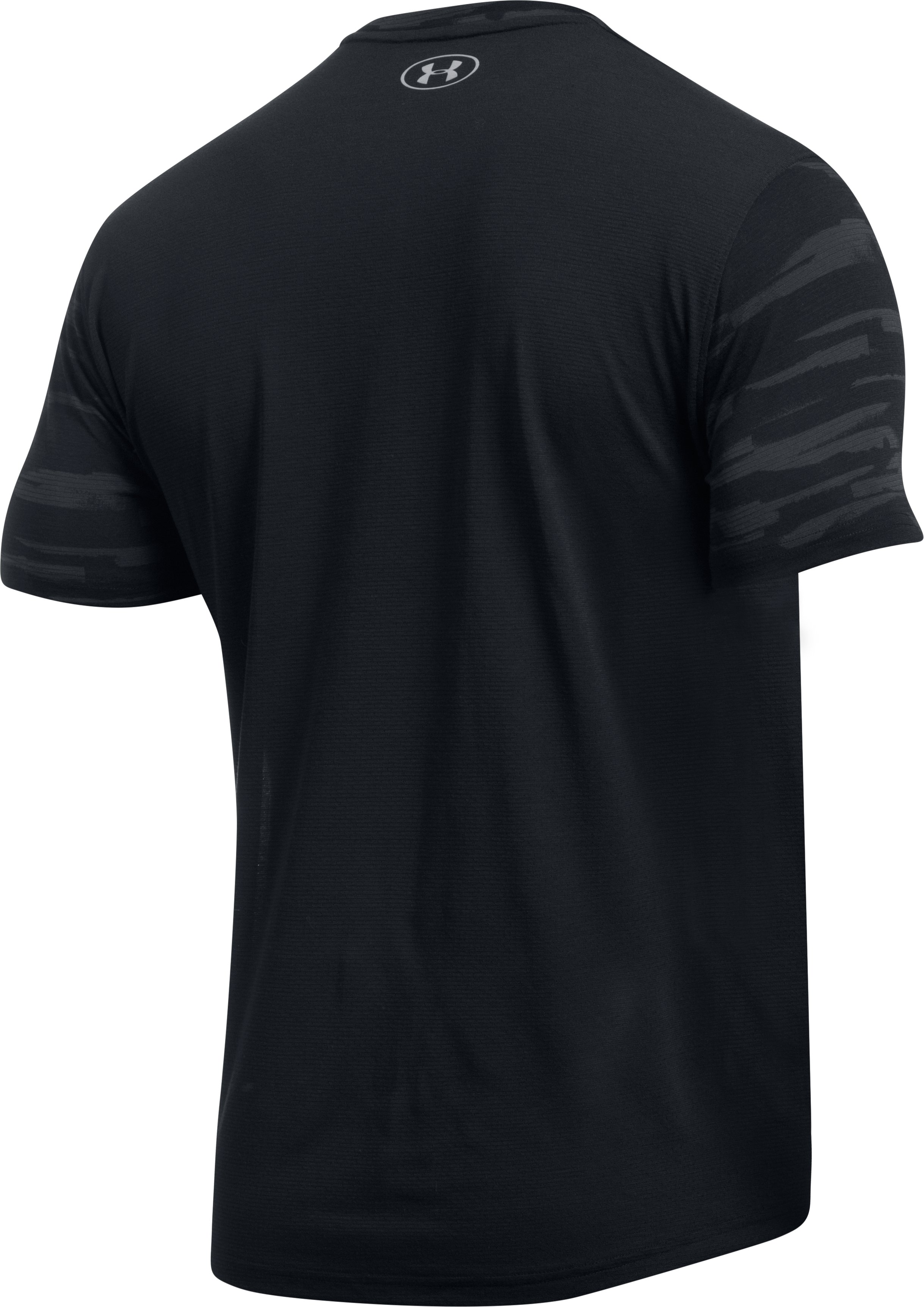 Men's UA Threadborne™ Run Mesh Short Sleeve, Black , undefined