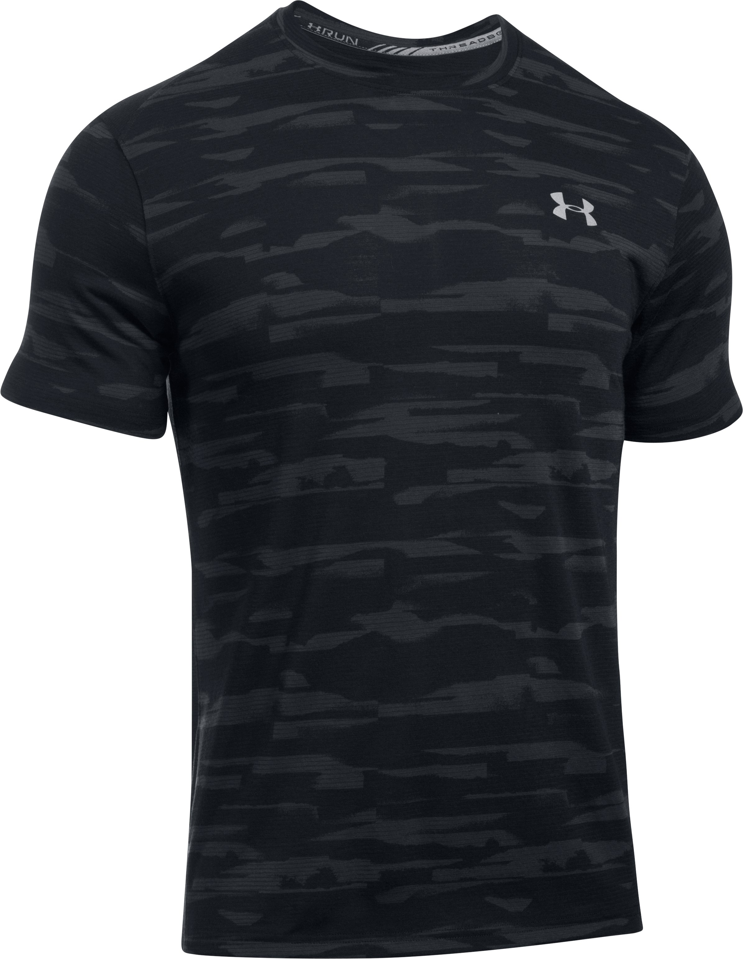 Men's UA Threadborne™ Run Mesh Short Sleeve, Black ,