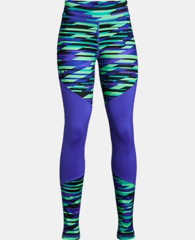 Girls' ColdGear® Printed Leggings  3  Colors Available $44.99