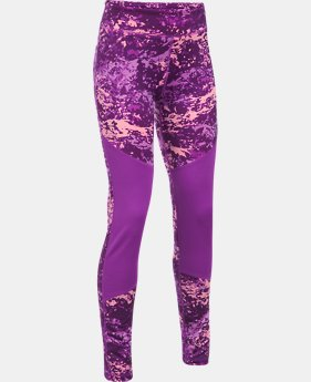 Girls' ColdGear® Printed Leggings  1  Color Available $26.99 to $33.74