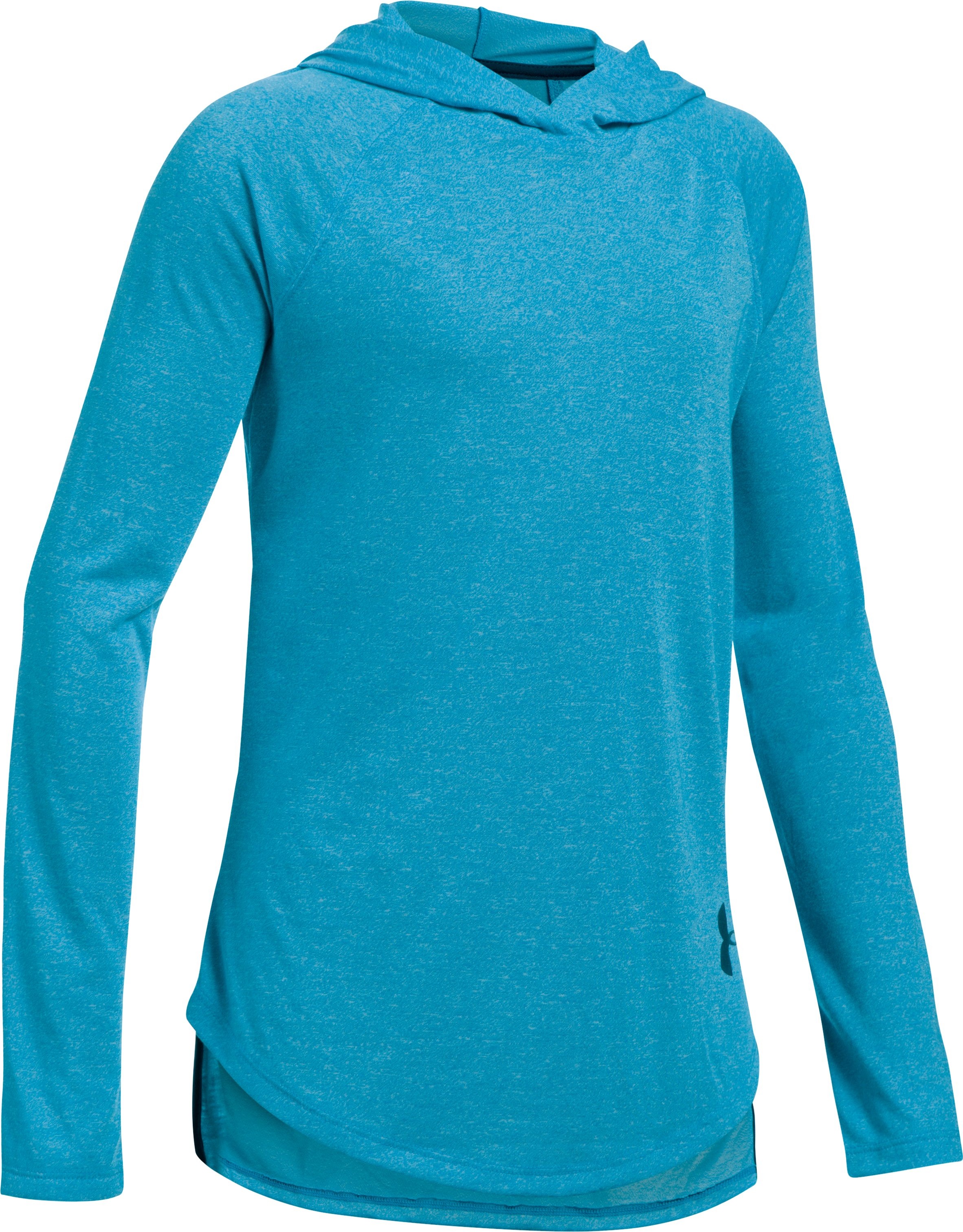 Girls' Threadborne™ Long Sleeve Hoodie, BLUE SHIFT