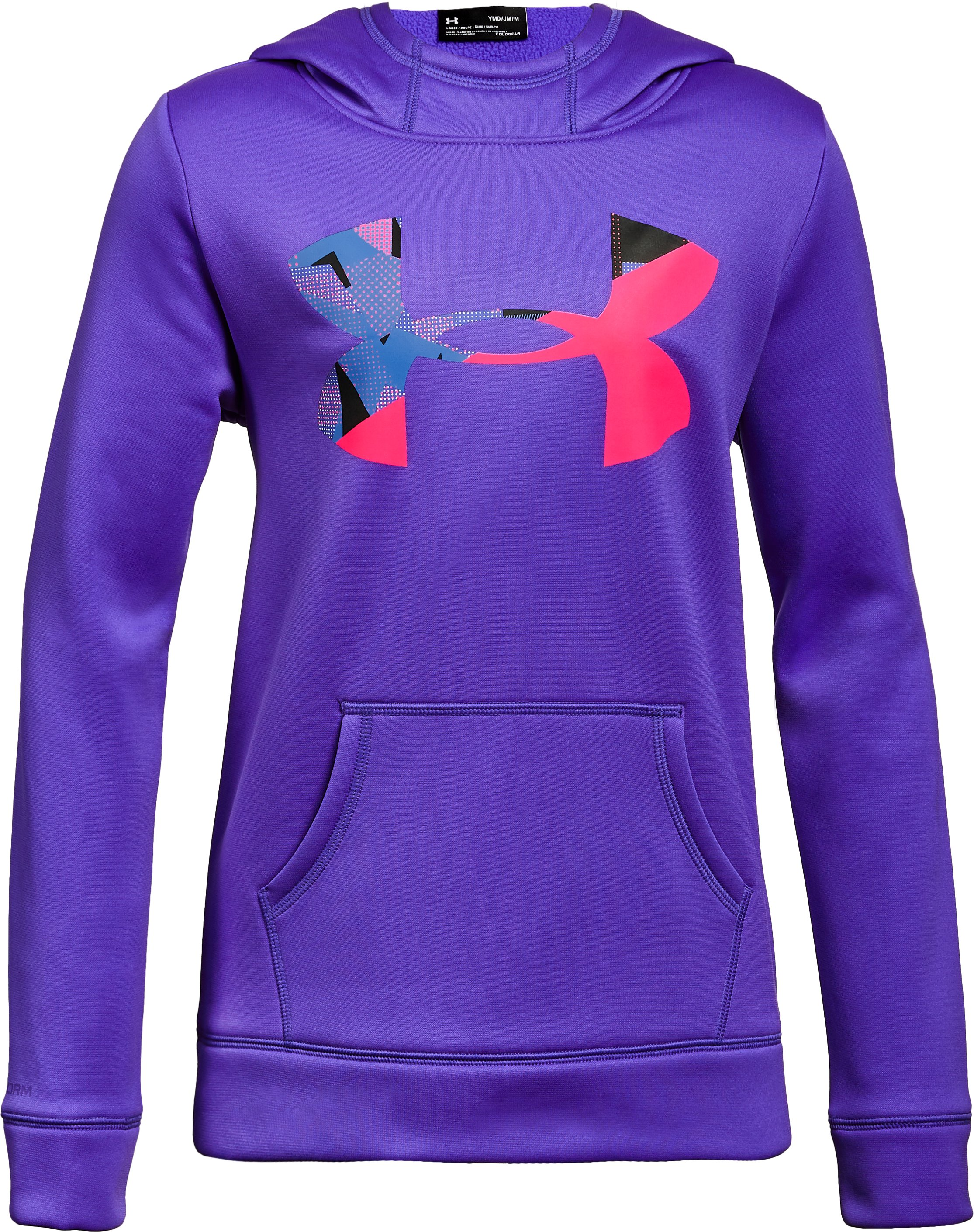 Girls' Armour Fleece® Big Logo Hoodie, CONSTELLATION PURPLE