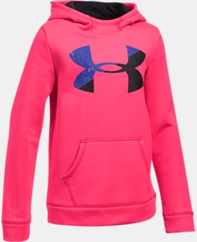 Girls' UA Armour® Fleece Big Logo Hoodie LIMITED TIME OFFER 2 Colors $33.32