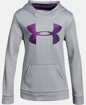 Girls' UA Armour® Fleece Big Logo Printed Hoodie LIMITED TIME OFFER 1 Color $39.99