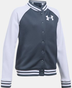 Girls' Armour Fleece® Graphic Bomber  1 Color $35.99