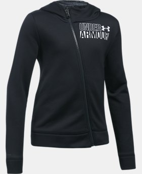 Girls' UA Armour® Fleece Full Zip Hoodie  4 Colors $54.99