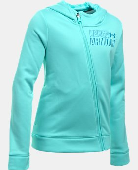New to Outlet Girls' UA Armour® Fleece Full Zip Hoodie LIMITED TIME OFFER 2 Colors $29.99