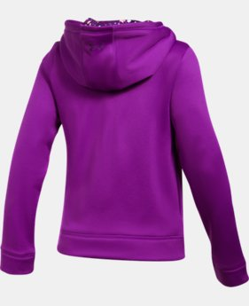 Girls' UA Armour® Fleece Full Zip Hoodie LIMITED TIME OFFER 1 Color $29.99