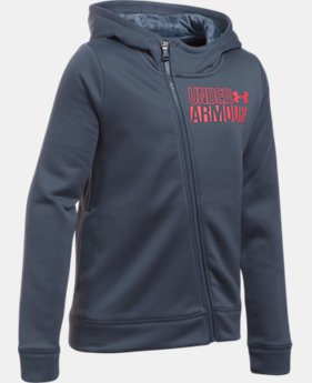 Girls' UA Armour® Fleece Full Zip Hoodie LIMITED TIME OFFER 3 Colors $29.99