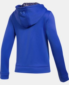 Girls' UA Armour® Fleece Full Zip Hoodie LIMITED TIME OFFER 2 Colors $35.44