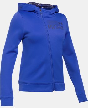 Girls' UA Armour® Fleece Full Zip Hoodie LIMITED TIME OFFER 2 Colors $29.99