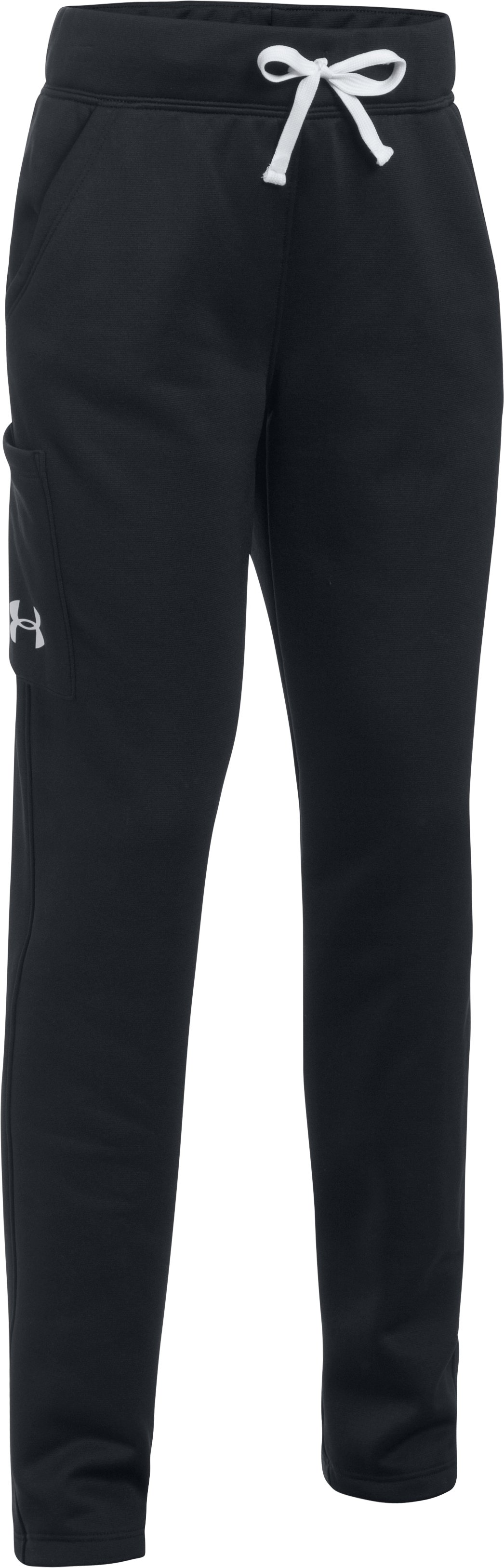 Girls' Armour Fleece® Pants, Black