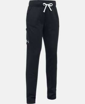 Girls' UA Armour® Fleece Pants LIMITED TIME OFFER 3 Colors $33.99