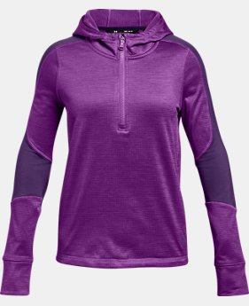 Girls' ColdGear® Reactor Fleece ½ Zip Hoodie  1  Color Available $38.99