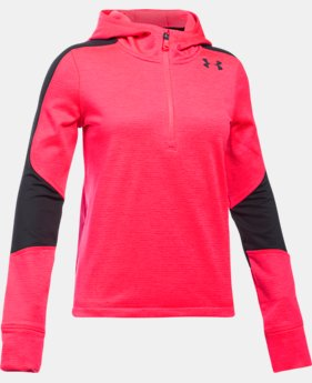 New Arrival  Girls' ColdGear® Reactor Fleece ½ Zip Hoodie  1 Color $74.99