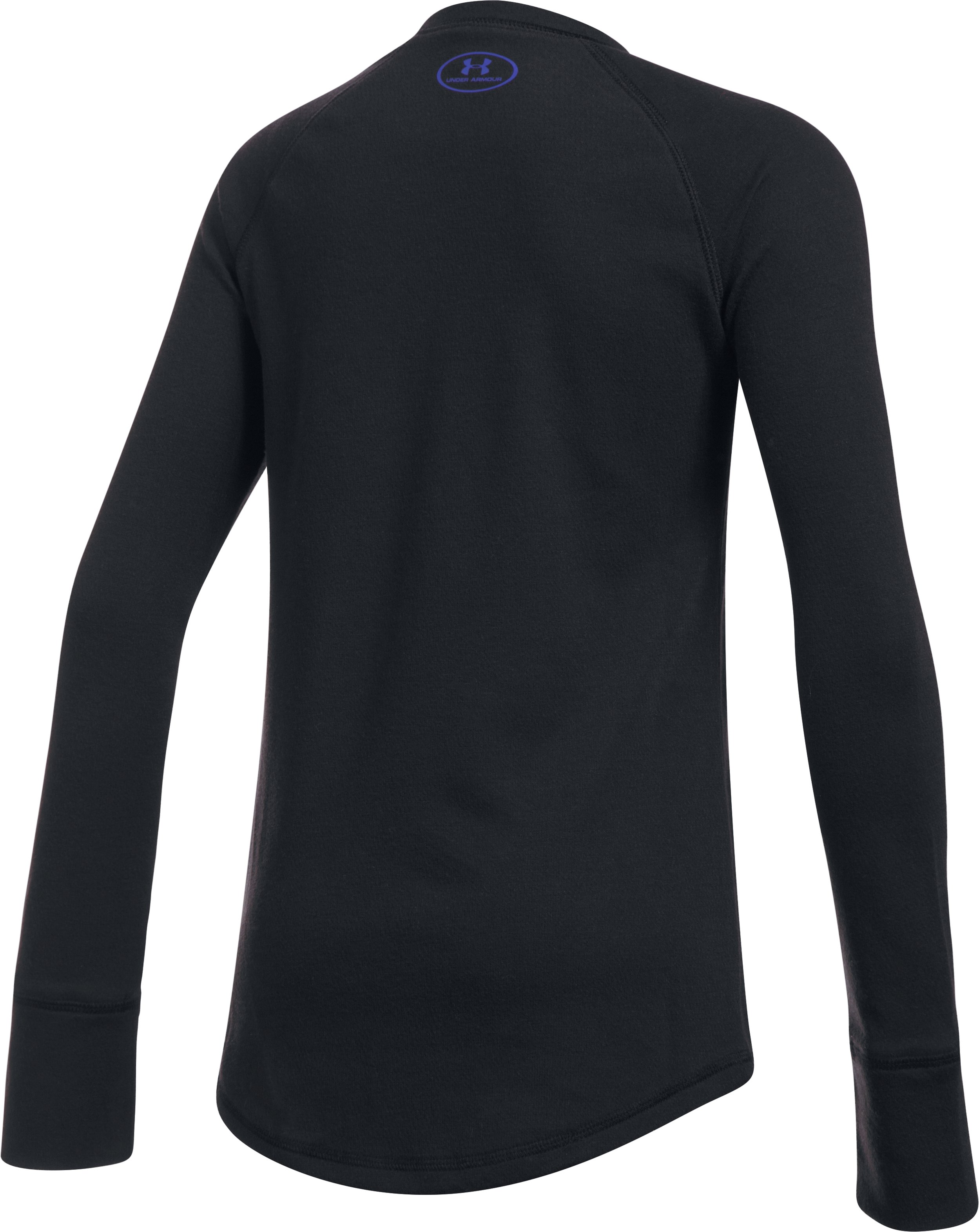 Girls' ColdGear® Infrared Knit Long Sleeve, Black , undefined