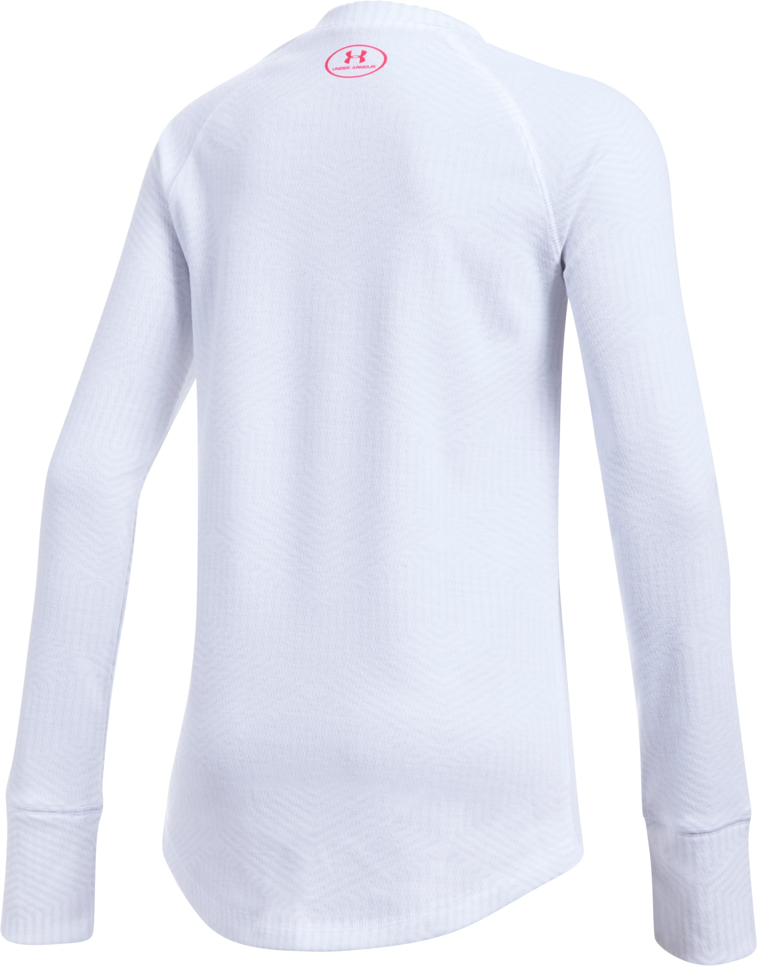 Girls' ColdGear® Infrared Knit Long Sleeve, White,
