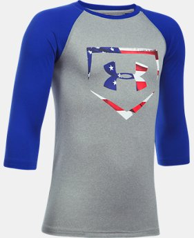Boys' UA Plate ¾ Sleeve T-Shirt  3 Colors $24.99