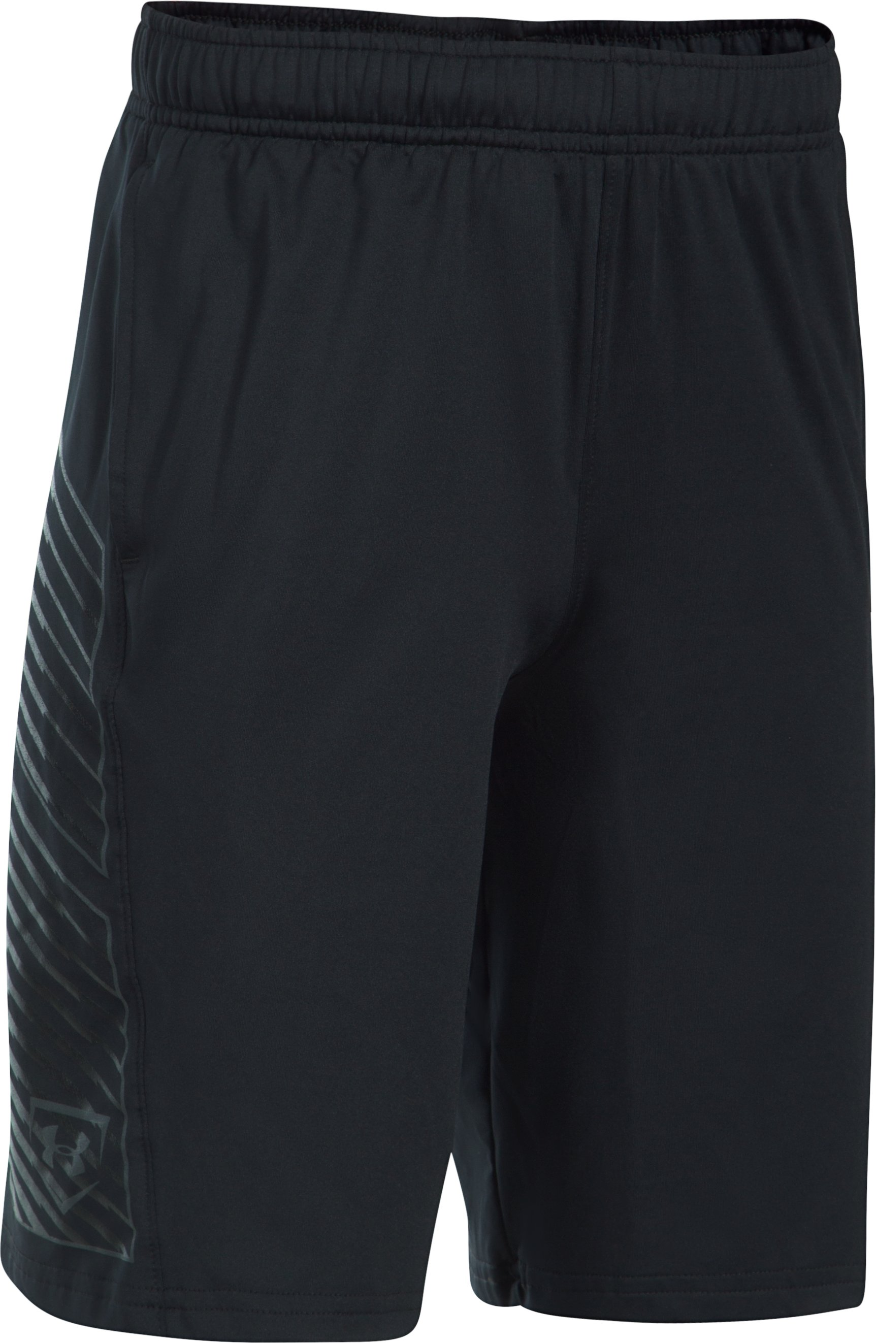 Boys' UA Baseball Training Shorts, Black , undefined