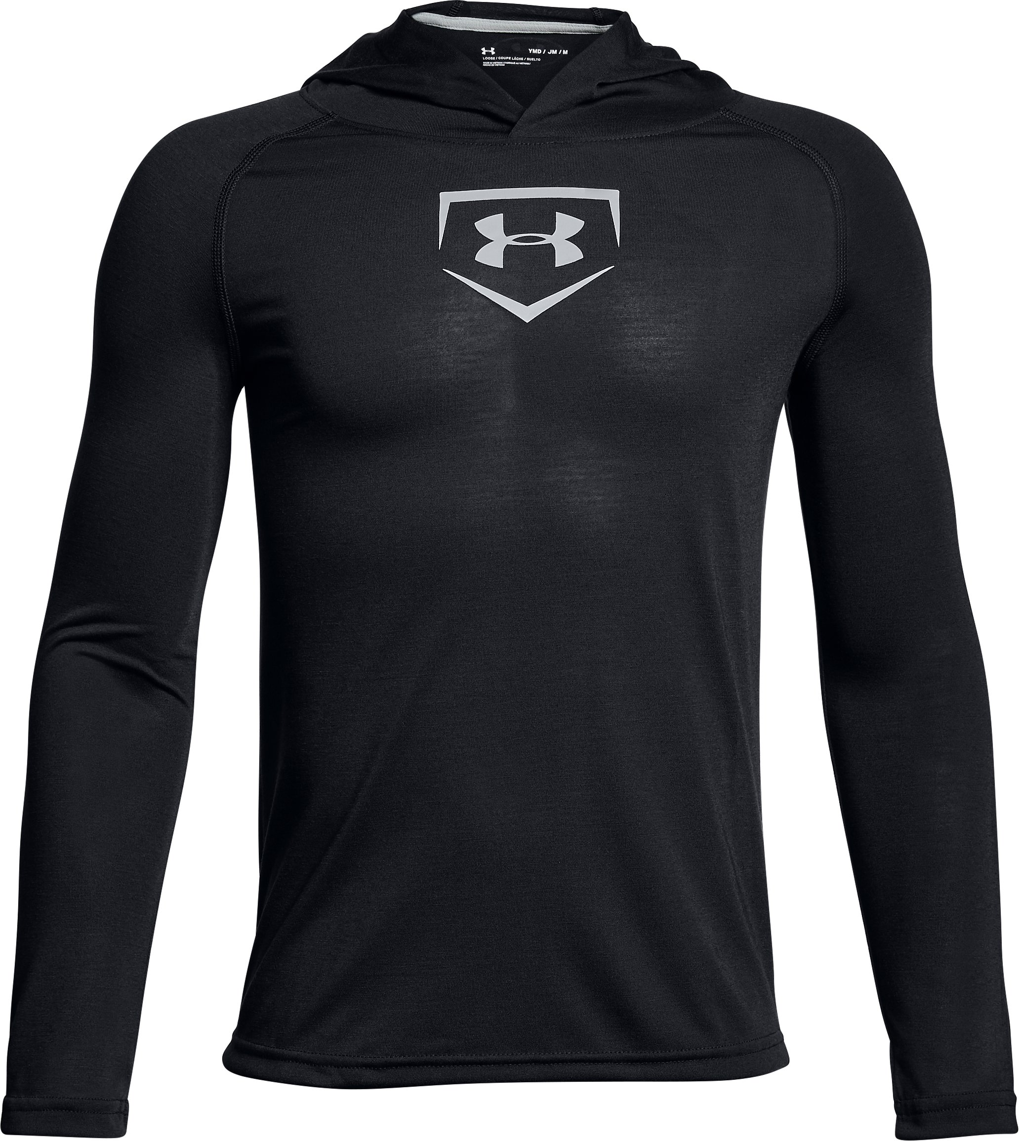 Boys' UA Baseball UA Threadborne™ Hoodie, Black ,