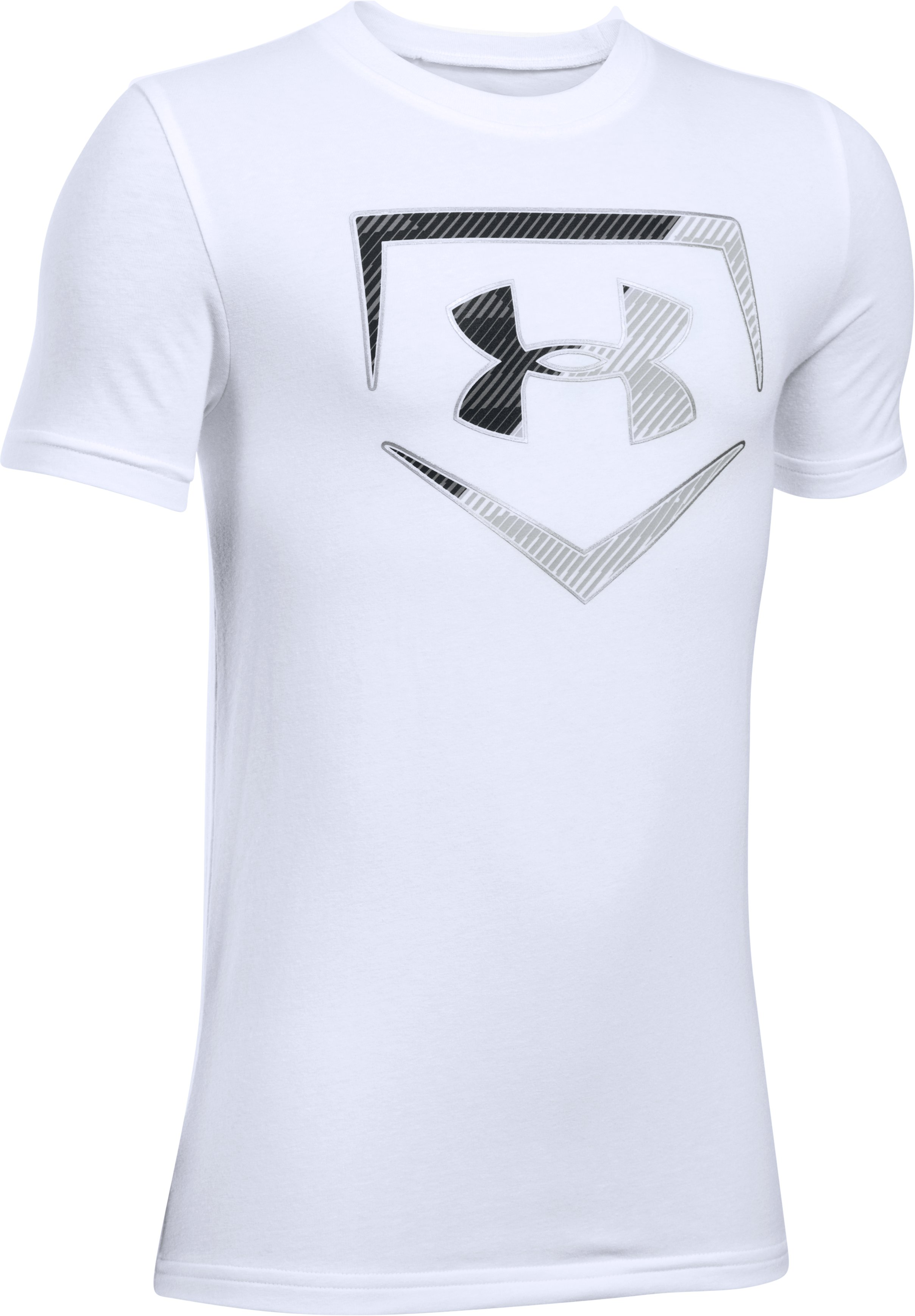 Boys' UA Baseball Logo T-Shirt, White, undefined