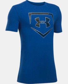 Boys' UA Baseball Logo T-Shirt LIMITED TIME: FREE U.S. SHIPPING 1  Color Available $19.99