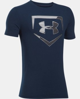 Boys' UA Baseball Logo T-Shirt  1  Color Available $19.99