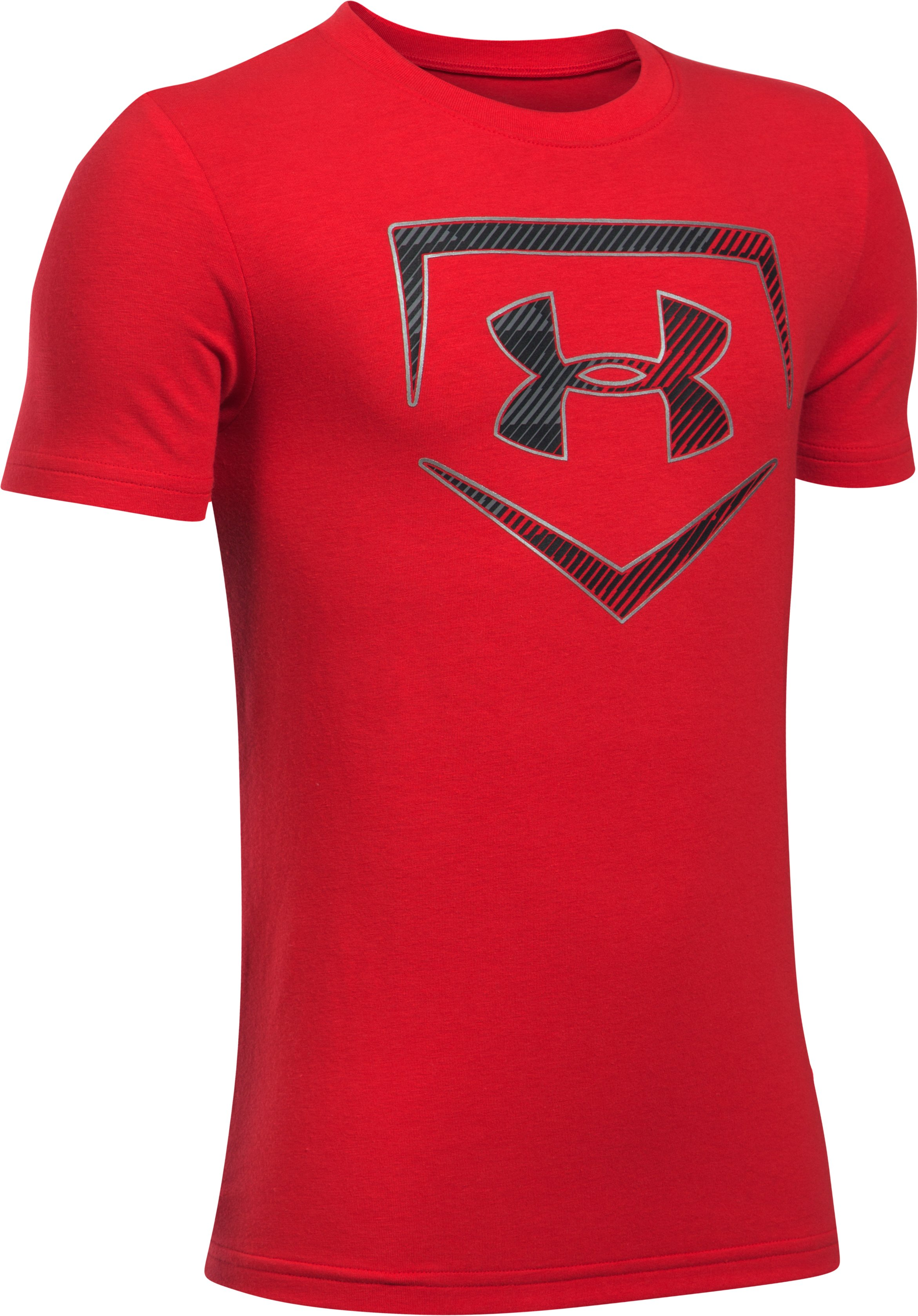 Boys' UA Baseball Logo T-Shirt, Red, undefined
