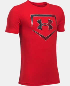 New Arrival Boys' UA Baseball Logo T-Shirt  1 Color $19.99