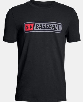 New Arrival  Boys' UA Baseball Wordmark T-Shirt  1 Color $17.24