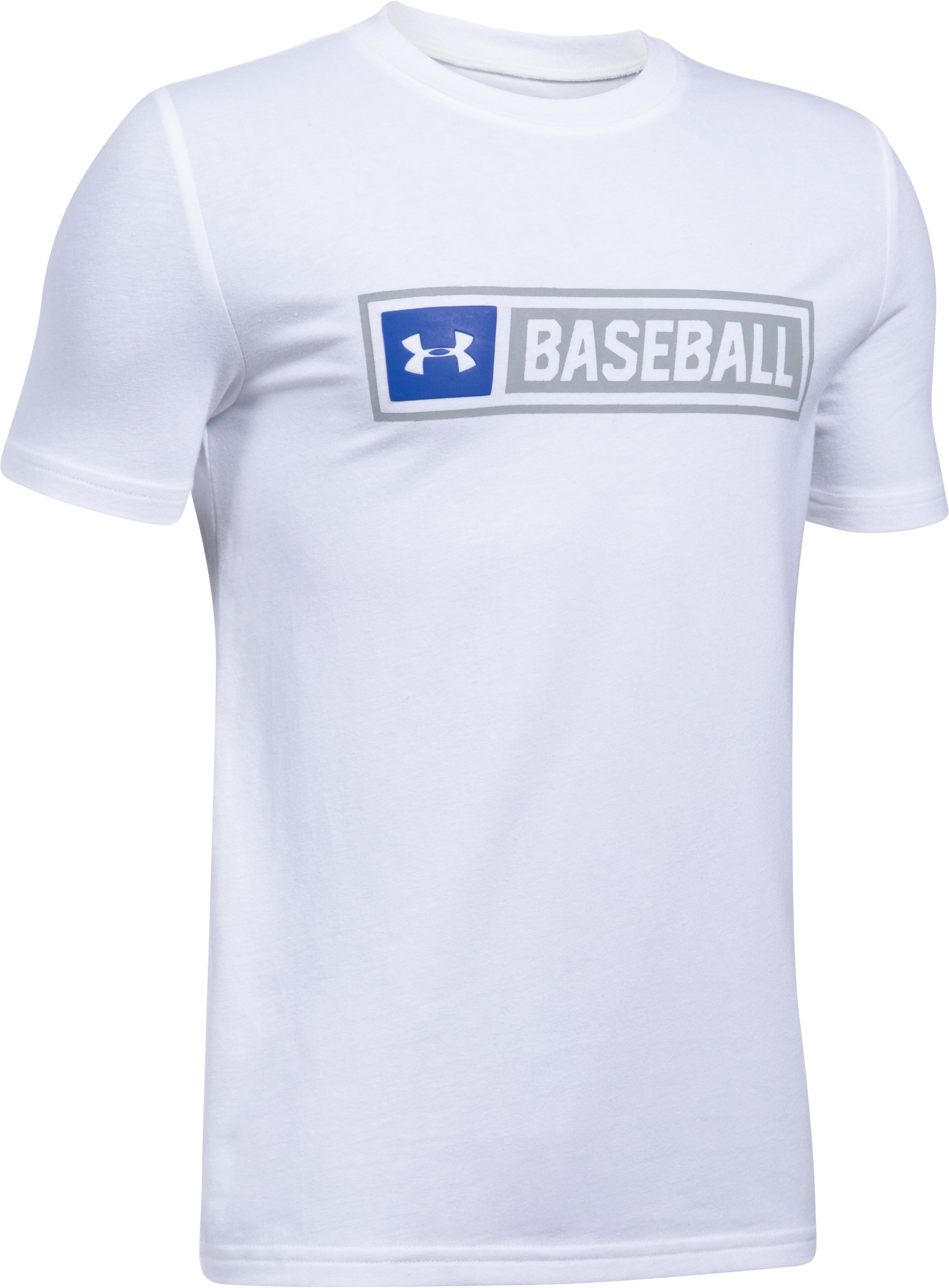 Boys' UA Baseball Wordmark T-Shirt, White,