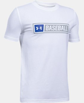 New Arrival Boys' UA Baseball Wordmark T-Shirt  1 Color $19.99