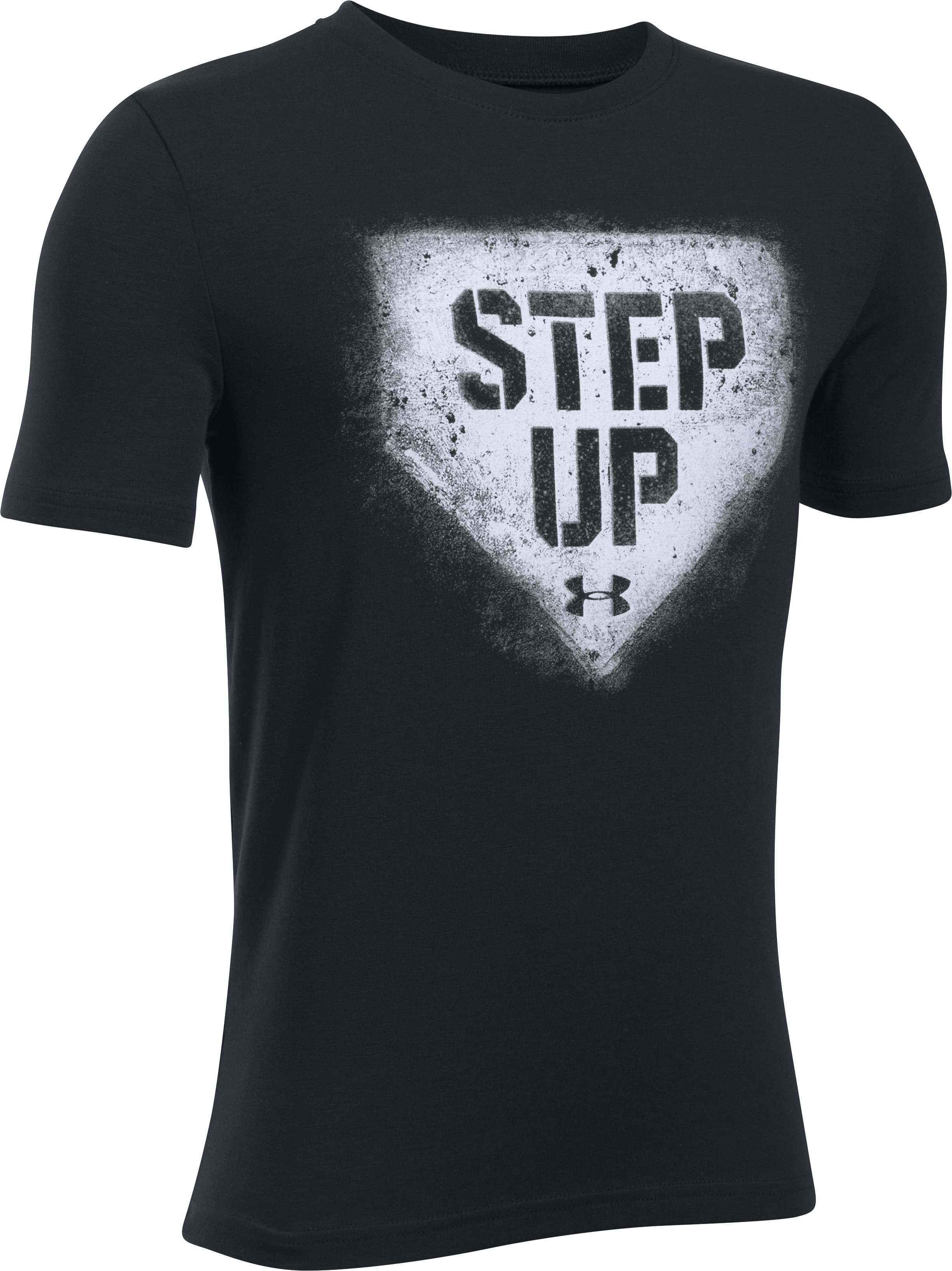 Boys' UA Step Up T-Shirt, Black , undefined